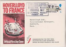 HOVERLLOYD TO FRANCE - HOVERCRAFT - RAMSGATE - 1ST DAY COVER  - PEGWELL BAY KENT