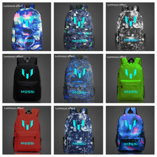 HOT Messi backpack waterproof luminous school bag Oxford cloth travel backpack