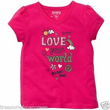 "Oshkosh B'gosh ""Love Your World"" Short Sleeve Shirt ~ Size 2T ~ Nwt"