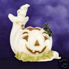 LENOX OCCASIONS HALLOWEEN GHOST WITH PUMPKIN VOTIVE NEW IN BOX