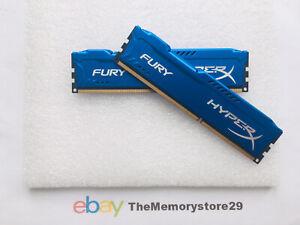 8GB 2 x 4GB Kingston HyperX Fury DDR3  Memory RAM 1600MHz PC3-12800 DIMM Non ECC