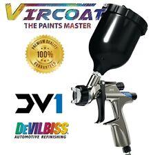 Devilbiss Basecoat Paintclear Coat Spray Gun Dv1 With Dv1 B Plus Hvlp Plus12