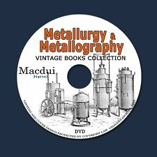 Metallurgy & Metallography Old Books Collection 134 PDF EBooks on 1 DVD Gold