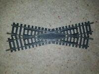 OO gauge Hornby R614 Left hand Crossover track steel track