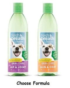 Pet Fresh Breath PLUS Water Additive Supplements Pick Hip & Joint OR Skin & Coat