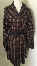 Prada Multi-Coloured Check Light Weight Coat, Sz Small