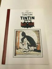 TINTIN CONTRE BATMAN  PASTICHE HOMMAGE TINTIN