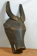 African tribal art,Tabwa male Buffalo Mask from DRC Congo
