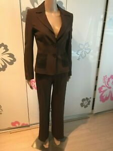 VALENTINO SUIT Women's 2-Piece Pants + Jacket Brown Size 39 / US 2