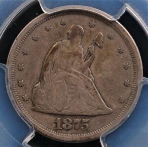 1875 S TWENTY CENT PIECE PCGS VF 20 PLEASING ORIGINAL GLOSSY OLD SHOE LEATHER