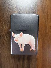"Zippo ""Arnold"" - Cerdito; Cerdo ; Pig - cromo satinado - NUEVO- #543"