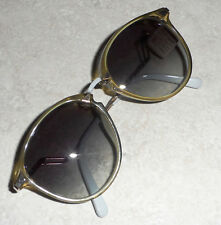 VINTAGE GERMANY VIENNA LINE OPTYL PANTO SUNGLASSES 20ct GOLD PLATED TAG NOS