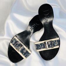 Christian Dior Monogram Sandals EU 36 UK 3 Flip Flops Trotter Wooden Vintage