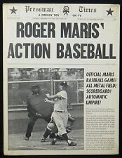 "1962 Roger Maris Action Baseball Game Complete 15"" by 20"" Nice!"