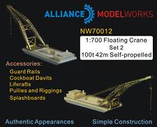 Alliance Model Works 1:700 Floating Crane Set 2 100t 42n Self-Propelled NW70012*