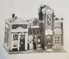 Dept 56 Christmas In The City Riverside Row Shops National Bank & Barber #58888