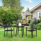 3 Pcs Patio Iron Furniture Set Sofa Coffee Table Chairs Garden Outdoor Home Seat