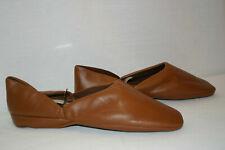 Sz 11 New Old Stock Mens Vtg 1960s 1970s Brown Manmade Slipper Shoe Deadstock