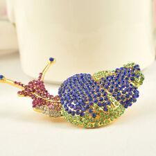 Women Jewelry Collar Lapel Pins Enamel Pin Brooch Cartoon Snail Brooches For