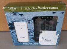 L.L.Bean Solar First Black Weather Station, NIB