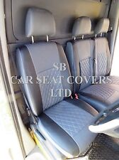 TO FIT A FIAT DUCATO VAN, SEAT COVERS, FLAT BED, BENTLEY DIAMOND, GREY / BLACK
