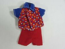 Barbie Kelly Tommy Ryan Sailboat Button Shirt & RED Shorts!