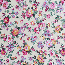 1/2 Yard 100% Cotton Quilting Sewing Fabric Shabby Country Cottage Calico Yellow