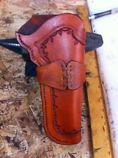 WESTERN HOLSTER FO RUGER SINGLE SIX HAND TOOLED COWBOY ACTION
