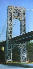 RICHARD HAAS GEORGE WASHINGTON BRIDGE 1999 HAND SIGNED mixed media on Aluminum