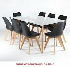 Solid Wood Up to 8 Seats Contemporary Dining Tables Sets