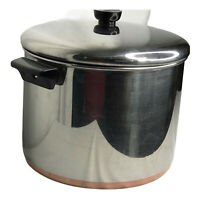 Revere Ware 10 Quart Stock Pot Rome NY 1978 Copper Bottom Vintage With Lid