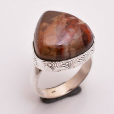925 Sterling Silver Ring Size US 7, Natural Jasper Gemstone Women Jewelry R2713