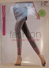 Hudson Medium Size Fashion Leggings with Ankle Detail in Grey