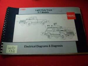 1989 GMC LIGHT DUTY TRUCK - S/T MODELS - ELECTRICAL DIAGRAMS & DIAGNOSIS MANUAL