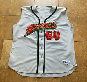Vintage Buffalo Bisons Russell Athletic Sleeveless Baseball Jersey Men's 54