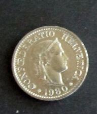 Münze 10 Rappen Schweizer Franken 1980 aus Umlauf gültiges Zahlungsmittel