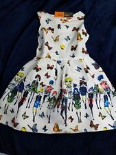 dress Fashionista butterflies print casual summer White size 130 8 to 9 year old