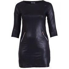 Magna - Kleid Tunika in Lederoptik - Sexy Schnitt -Gr.40/42 - 56/58 - Hingucker