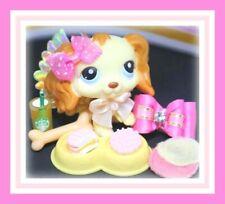 ❤️Authentic Littlest Pet Shop LPS #298 Cream Cocker Spaniel Puppy Dog WINGS❤️
