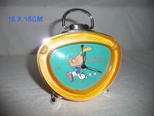 Radio-réveil enfant decor BD  lumière couleur orange pile fournie 15 x 15 cm ht
