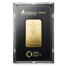 Goldbarren 20 Gramm im Blister Heimerle + Meule