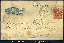 FRANCE MOUCHON N°116 SUR CP CACHET PARIS 96 GRAND HOTEL DU 14/06/1902 A VOIR