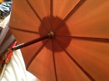 Ladies S Fox Paragon carless umbrella Parasol-Brown plastic handle. Tassle