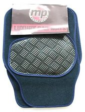 Mitsubishi Galant (93-96) Navy Blue Velour Carpet Car Mats - Rubber Heel Pad