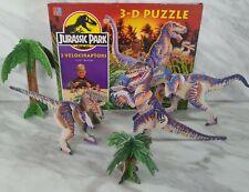Retro Jurassic Park 3 Velociraptors 3D Puzzle Boxed Complete