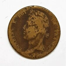 5 cent colonie Française Charles X 1828 A