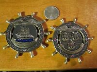 USS Constitution Old Ironsides Navy Chief CPO Ship Wheel USN Challenge Coin