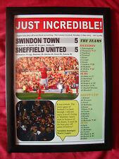 Swindon Town 5 Sheffield United 5 - Swindon at Wembley - 2015 - framed print