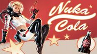 Nuka Cola ad Iron on T shirt Transfer,bibs,bags and Cushions
