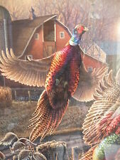 """James Meger Print FULL HOUSE"""" Pheasants S/N Limited Edition # 269 of 1750"""